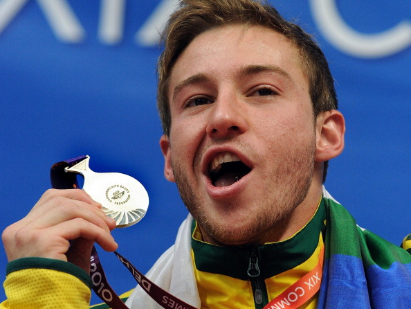 Australia secured 15 medals overall at the 2010 Commonwealth Games in Delhi with Matthew Mitcham earning four silvers ©AFP/Getty Images