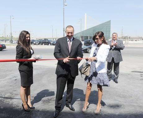 Azerbaijani President Ilham Aliyev officially opens the new National Gymnastics Arena in Baku ©Baku 2015