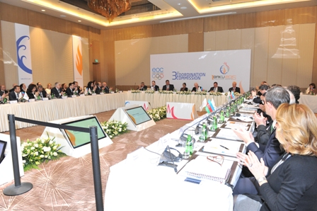 The 3rd European Olympic Committees Coordination Commission heard that more than 6,000 athletes will compete in 19 sports at Baku 2015 ©Baku 2015