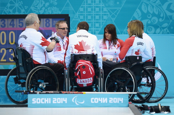 Canada's dominant wheelchair curling team are in the running for the team award ©Getty Images
