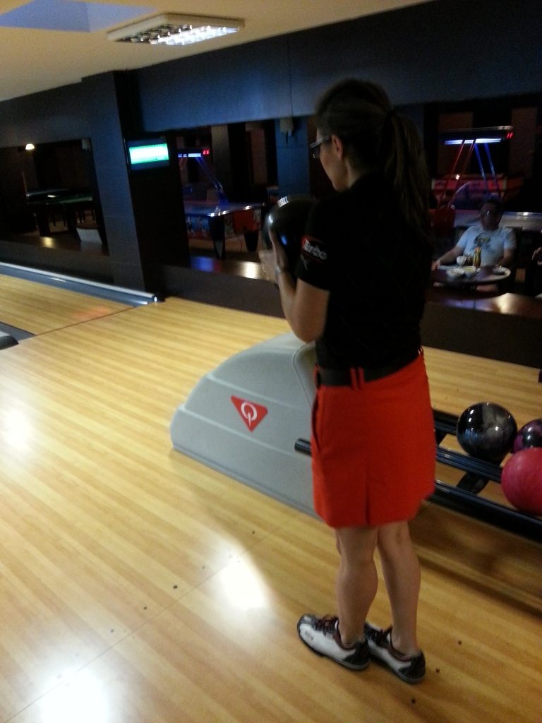 Colombian world champion Clara Guerrero was at a demonstration in Belek as bowling looked to showcase its new brand ©ITG