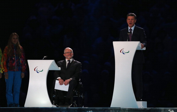 Russian Deputy Prime Minister Dmtry Kozak gave the closing speech at the Sochi 2014 Paralympics ©Getty Images