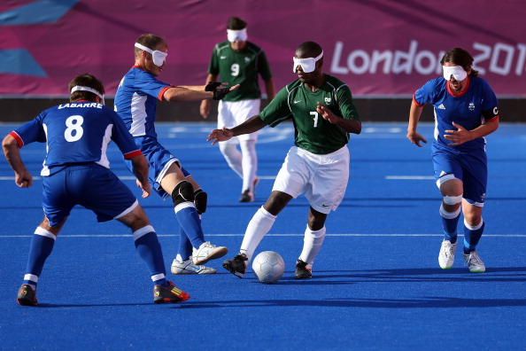 England will face Brazil (in green) on home soil at this year's IBSA Quad Nations Football Tournament ©Getty Images