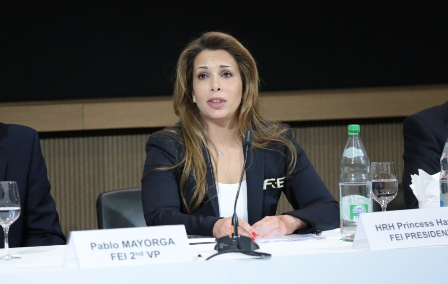 FEI President Princess Haya has announced she will seek a third term after the governing body's statutes were amended at the Extraordinary General Assembly in Lausanne ©Germain Arias-Schreiber/FEI