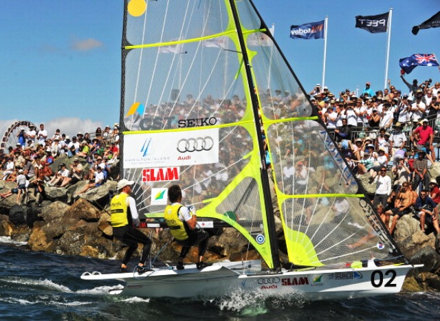 Four cities are bidding to host the 2018 ISAF Sailing World Championships which were held in Perth in 2011 ©AFP/Getty Images
