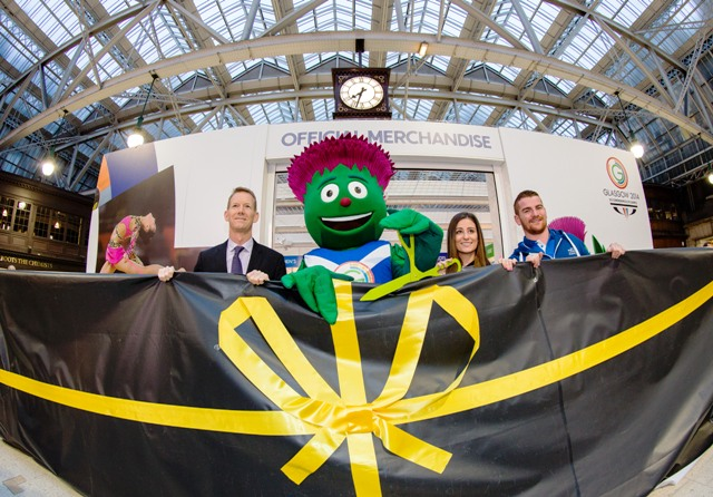 Glasgow 2014 has opened the first of more than 40 official merchandise stores today ©Glasgow 2014