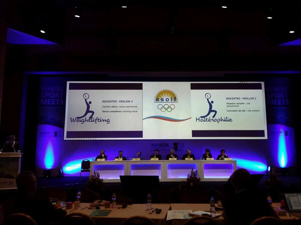 Rio 2016 sports director Agberto Guimaraes speaking to ASOIF members during the General Assembly ©Twitter