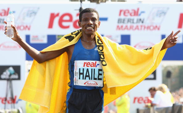 Haile Gebrselassie may not be competing, but he will still be on the London Marathon couse setting the pace for what he says is the best ever field assembled ©Bongarts/Getty Images