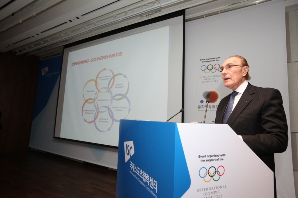 IOC member Iván Dibós outlined the principles of good governance during his speech at the ISC Conference here in Seoul ©ISC