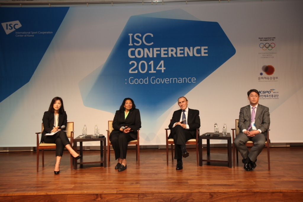 IOC members took part in a ISC Conference surrounding good governance today in Seoul ©ISC