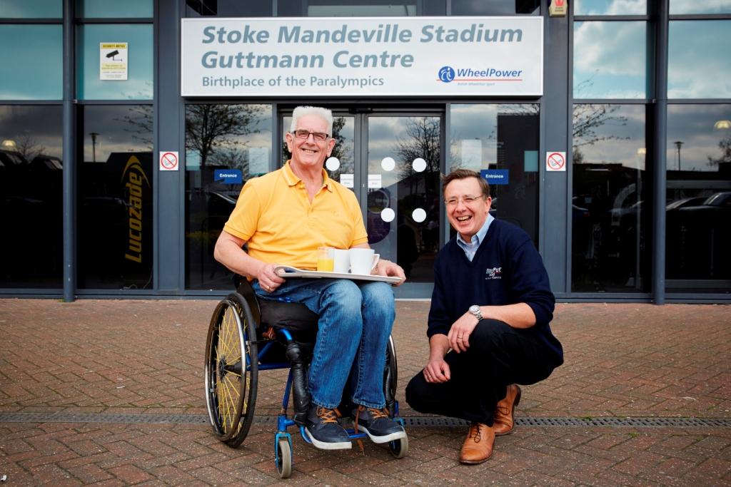 Isagi has donated 50 non-slip trays to WheelPower to help wheelchair users at the Stoke Mandeville Stadium ©Isagi