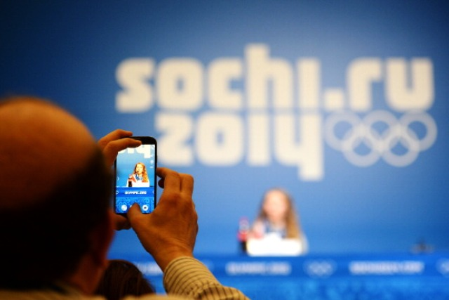 Journalists had access to free internet services for the first time at an Olympic Games in Sochi ©AFP/Getty Images