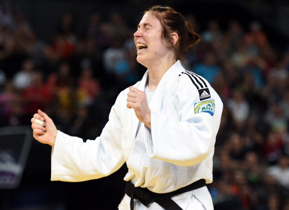Kim Polling won each of her day's encounters by ippon as she cruised to her second European gold medal in as many years in the women's under 70kg division ©AFP/Getty Images