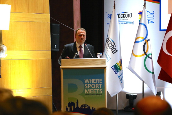 Marius Vizer, speaking during the Opening Ceremony of the SportAccord Convention yesterday, strongly criticised the suggestion of Cookson ©Anadolu Agency/Getty Images