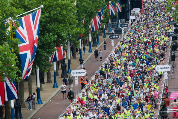 Mass participation cycling events like RideLondon have shown the appeal they bring ©AFP/Getty Images