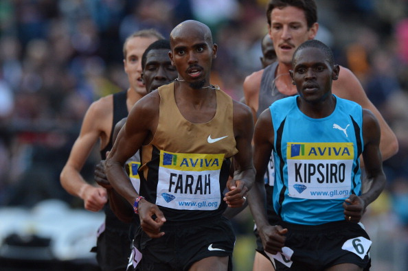Moses Kipsiro, competing against Mo Farah at a Diamond League event in 2012, has been dropped from the Ugandan team after criticising the alleged abuse by the coach ©AFP/Getty Images