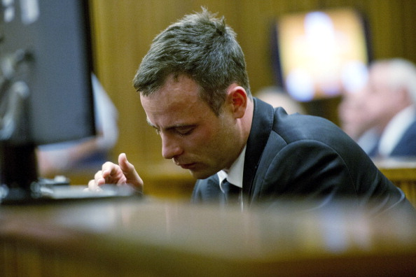 Oscar Pistorius was emotional in court today as the murder trial resumed ©AFP/Getty Images