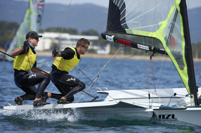 Peter Burling and Blair Tuke made it two ISAF Sailing World Cup regatta victories in a row with another dominant display in the men's 49er ©ISAF