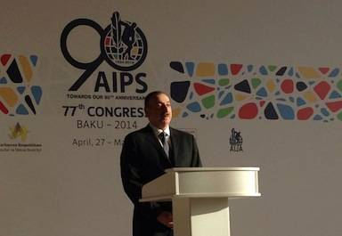 President of Azerbaijan Ilham Aliyev opened the 77th AIPS Congress in Baku ©AIPS