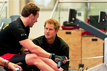 Prince Harry visited athletes at Tedworth House today as the selection process for the Invictus Games gets underway ©Getty Images