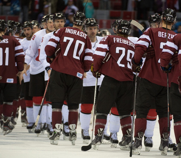 Ralfs Freibergs tested positive in a urine sample he provided just days after Latvia's quarter-final loss to Canada at the Sochi Winter Games ©MCT/Getty Images