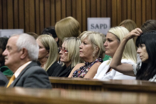 Reeva Steenkamp's family, including her mother, have listened intently during the cross-examination of Oscar Pistorius ©AFP/Getty Images
