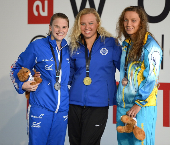 Stephanie Slater (left) has set a new European record in the women's S8 50 metre freestyle on day two of the British Para-Swimming International Meet ©Getty Images