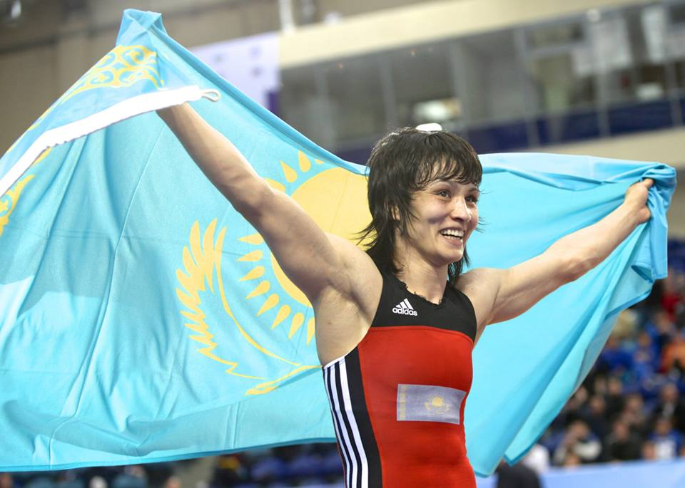 Tatyana Amanzhol secured the hosts their second gold medal of the Championships with victory over Mongolian Narangerel Erdenesukh ©FILA