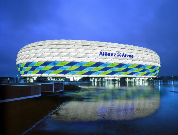 The Allianz Arena in Munich or Wembley Stadium in London will play host to the Euro 2020 final ©Getty Images