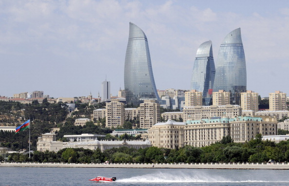 The Caspian Sea will provide a stunning backdrop to the street athletics during Baku 2015 ©AFP/Getty Images