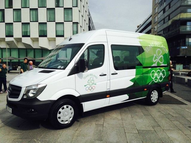 The IOC has delivered a new Mercedes Sprinter van to the Olympic Council of Ireland ©OCI