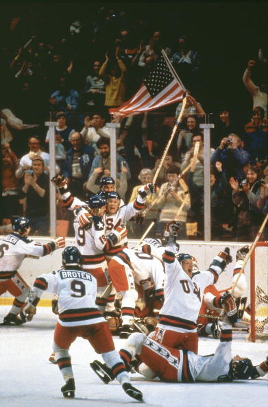"""The United States' 4-3 victory over the Soviet Union in the 1980 Winter Olympic Games, dubbed """"Miracle on Ice"""", is one of the most famous Olympic stories in history ©Sports Illustrated/Getty Images"""