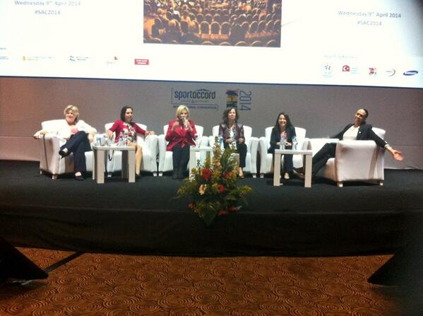 The first all-female panel in the history of SportAccord spoke about a variety of issues affecting female sport ©Twitter