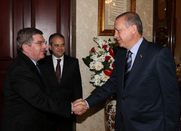 Thomas Bach met with Turkish Prime Minister Recep Tayyip Erdogan following the Convention ©Anadolu Agency/Getty Images