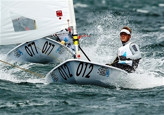 Tom Burton will be one of the sailors looking to win two successive World Cup events in France next week ©Getty Images