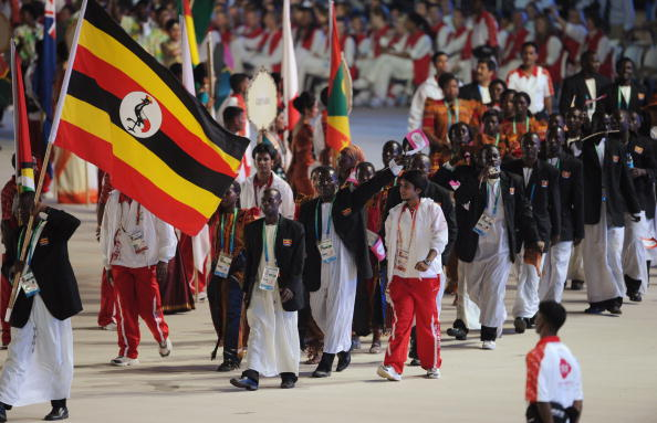 Ugandan athletes parade at the Opening Ceremony of the Delhi 2010 Commonwealth Games ©AFP/Getty Images