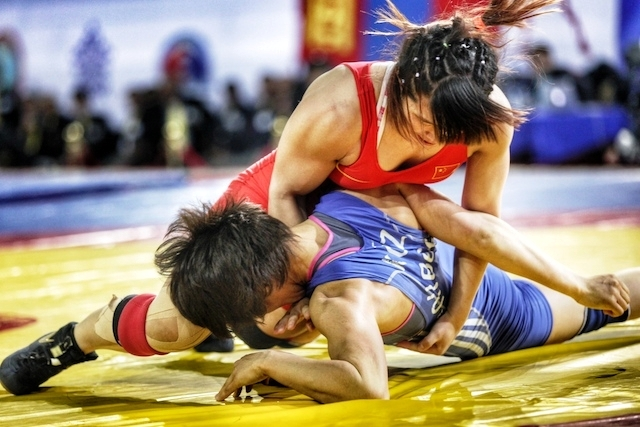 Women wrestlers were the focus on day three in Astana as five Asian titles were up for decision ©FILA