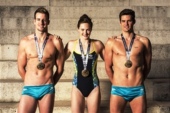 World champions James Magnussen, Cate Campbell and Christian Sprenger will lead Australia's swimming team at Glasgow 2014 ©Getty Images