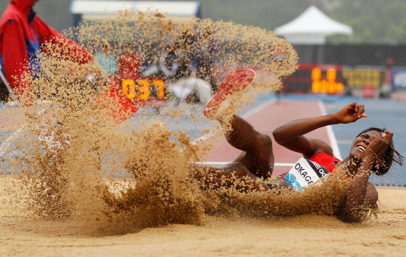 Blessing Okagbare put Nigeria on the medals table singlehandedly at last year's IAAF World Championships in Moscow, where she took silver  in the long jump and 200m, but the Nigerian Athletics Federation is now investing in creating a broader base of achievement ©Getty Images