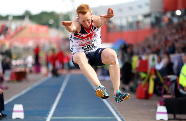 Olympic champion Greg Rutherford jumping in 2013 ©Getty Images