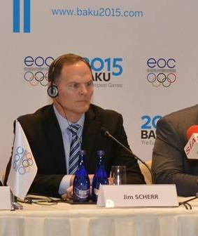 Jim Scherr is leaving his position as chief operating officer of Baku 2015 ©Baku 2015