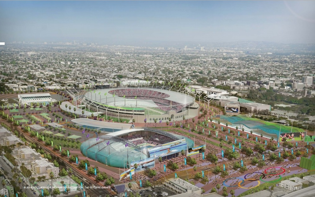 The Los Angeles Memorial Coliseum would host the Olympics for the third time in its history if the bid is successful ©SCCOG