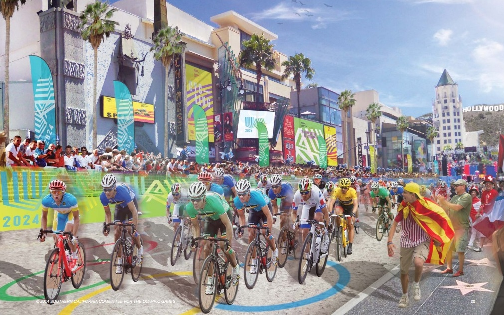 Several events, including the cycling, would take place with some Los Angeles' iconic landmarks as a backdrop ©SCCOG