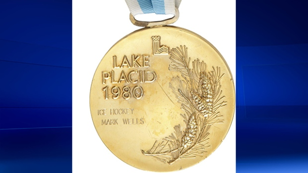 """An Olympic gold medal that belonged to Mark Wells, a member of the United States' """"Miracle on Ice"""" team that won at Lake Placid in 1980, sold for more than $300,000 in 2010 ©Heritage Auctions"""