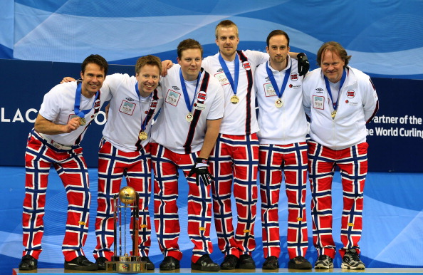 Norway have won their first World Men's Curling Championship title since 1988 ©AFP/Getty Images