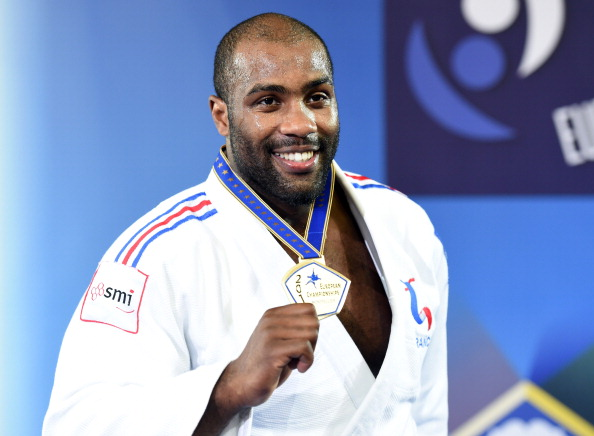Teddy Riner began a golden day for France with victory in the men's over 100kg category ©AFP/Getty Images