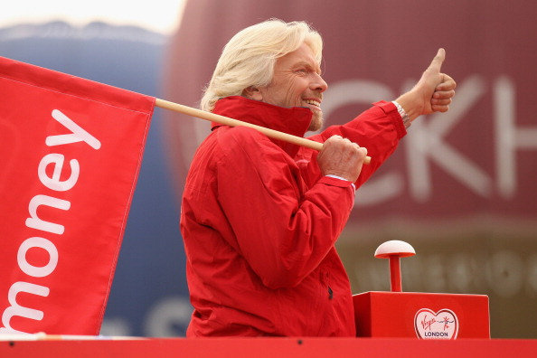 Virgin group founder Richard Branson, pictured starting the 2011 London Marathon, says the latest digital advance will make the event available to runners around the world, 24/7 ©Getty Images