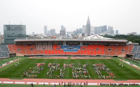 A ceremony was held at the National Stadium in Tokyo today to commemorate the venues 56-year history before it is reconstructed ahead of Tokyo 2020 ©Tokyo 2020