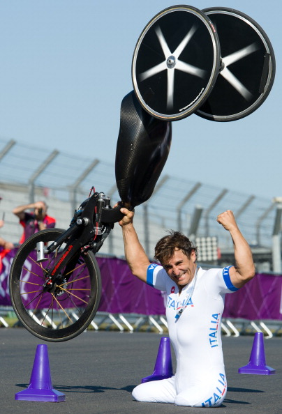 Alex Zanardi won three medals at the London 2012 Paralympic Games including two gold ©Getty Images