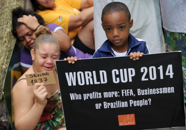 As with during the Confederations Cup last year, the World Cup is providing a focal point for wider discontent ©AFP/Getty Images